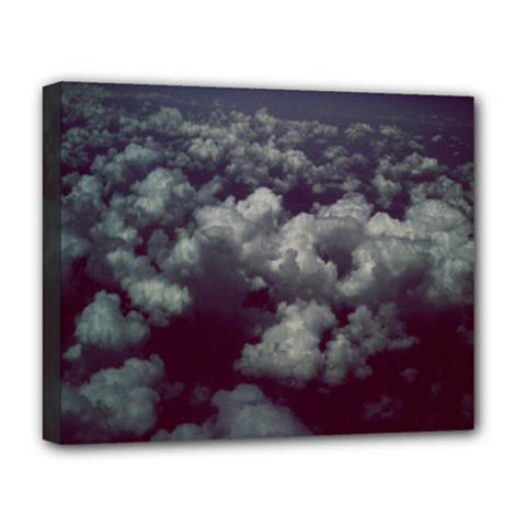 Through The Evening Clouds Deluxe Canvas 20  x 16  (Framed)