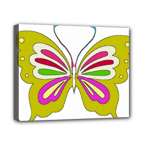 Color Butterfly  Canvas 10  x 8  (Framed)