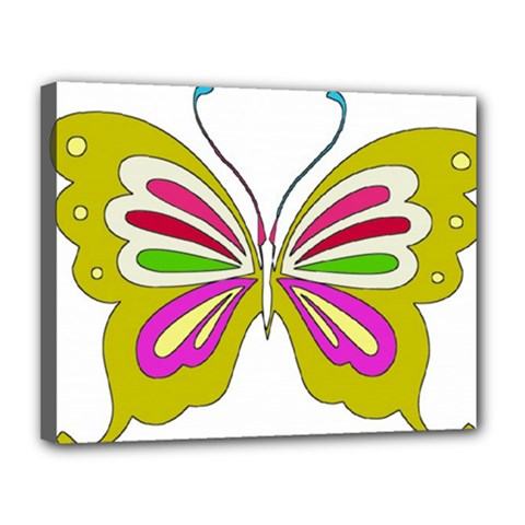 Color Butterfly  Canvas 14  x 11  (Framed)