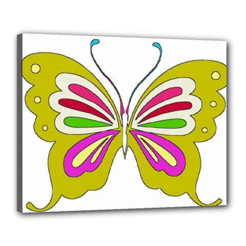 Color Butterfly  Canvas 20  X 16  (framed)