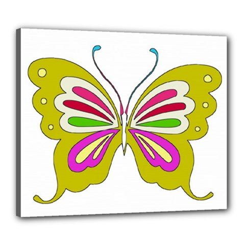 Color Butterfly  Canvas 24  X 20  (framed)