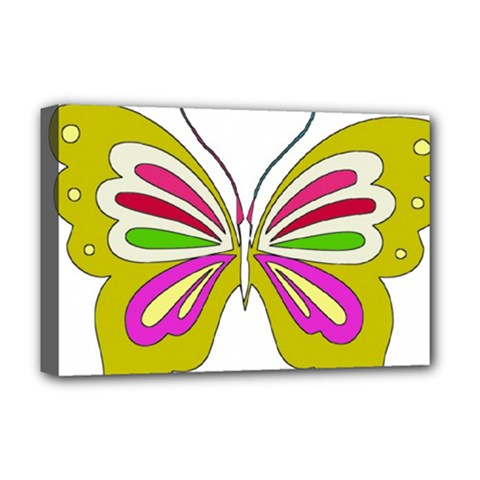 Color Butterfly  Deluxe Canvas 18  X 12  (framed)