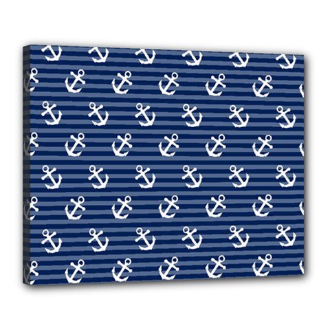 Boat Anchors Canvas 20  x 16  (Framed)
