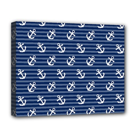 Boat Anchors Deluxe Canvas 20  x 16  (Framed)