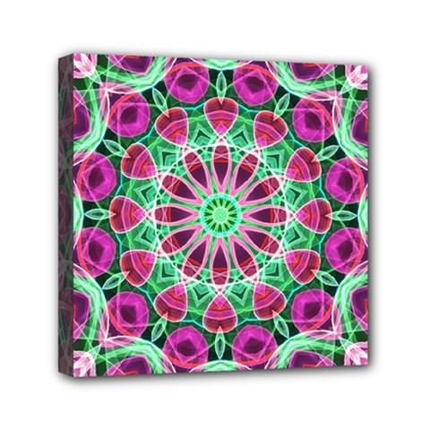 Flower Garden Mini Canvas 6  x 6  (Framed)