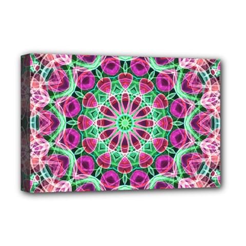 Flower Garden Deluxe Canvas 18  x 12  (Framed)