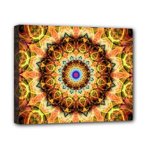 Ochre Burnt Glass Canvas 10  X 8  (framed)