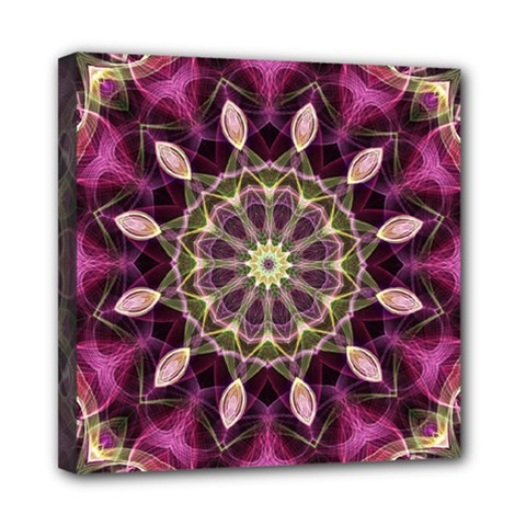 Purple Flower Mini Canvas 8  X 8  (framed)