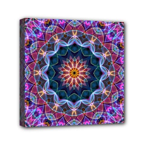 Purple Lotus Mini Canvas 6  x 6  (Framed)