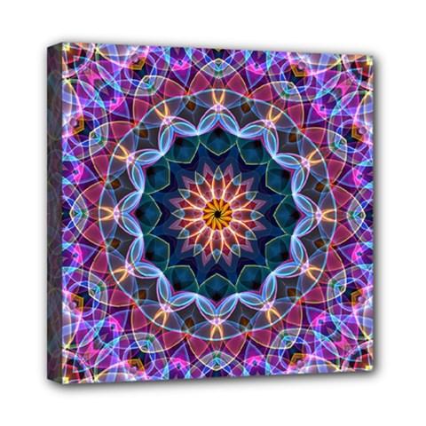 Purple Lotus Mini Canvas 8  X 8  (framed)