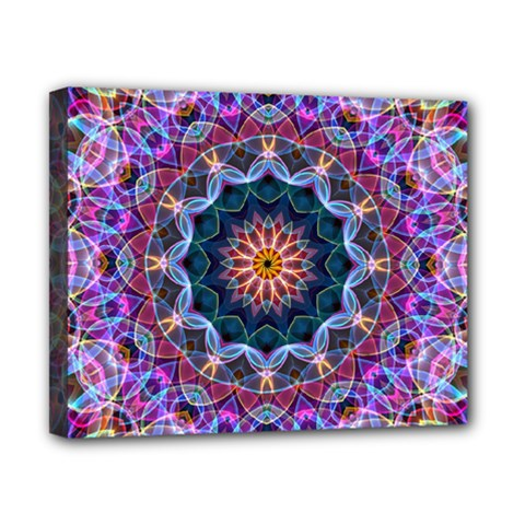 Purple Lotus Canvas 10  x 8  (Framed)