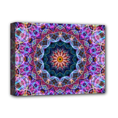 Purple Lotus Deluxe Canvas 16  x 12  (Framed)