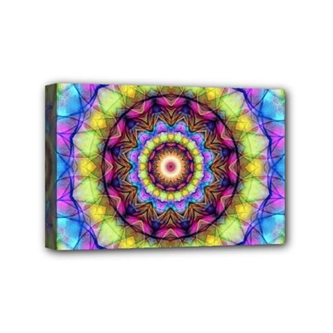 Rainbow Glass Mini Canvas 6  x 4  (Framed)