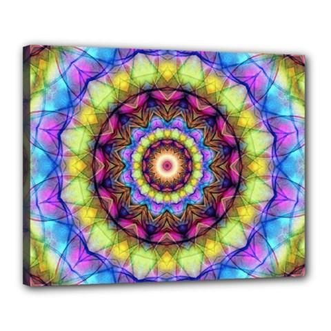 Rainbow Glass Canvas 20  x 16  (Framed)