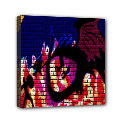 My Dragon Mini Canvas 6  x 6  (Framed)