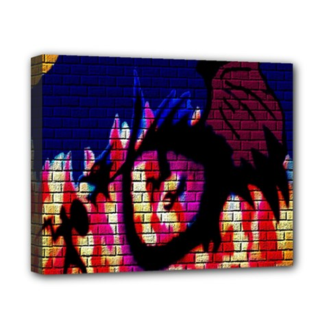 My Dragon Canvas 10  x 8  (Framed)