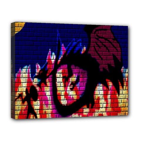 My Dragon Canvas 14  x 11  (Framed)