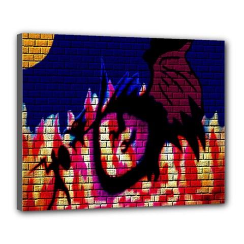 My Dragon Canvas 20  x 16  (Framed)