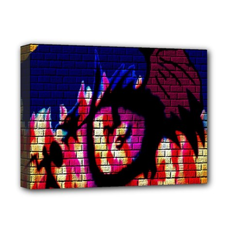 My Dragon Deluxe Canvas 16  x 12  (Framed)