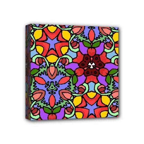 Bright Colors Mini Canvas 4  x 4  (Framed)