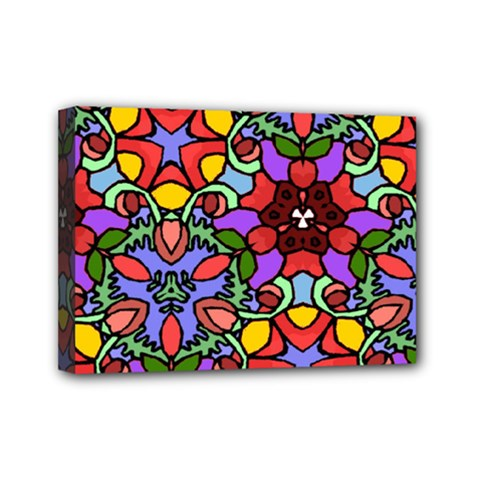 Bright Colors Mini Canvas 7  X 5  (framed)