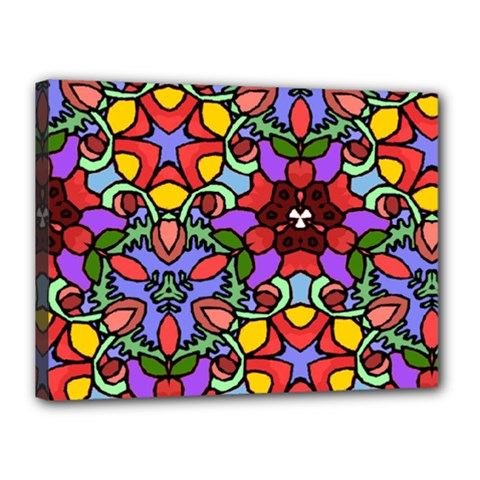 Bright Colors Canvas 16  x 12  (Framed)