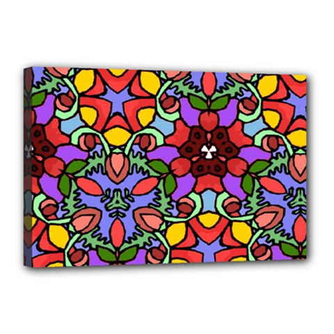 Bright Colors Canvas 18  x 12  (Framed)