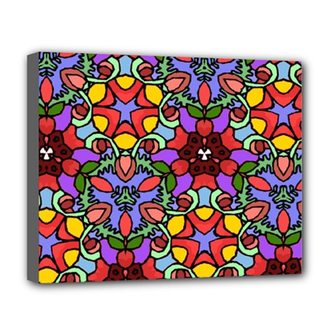 Bright Colors Deluxe Canvas 20  x 16  (Framed)