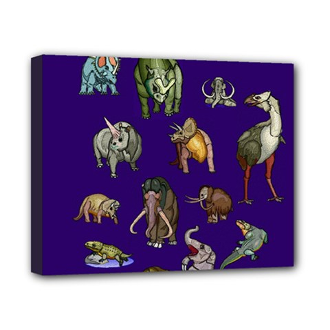 Dino Family 1 Canvas 10  x 8  (Framed)