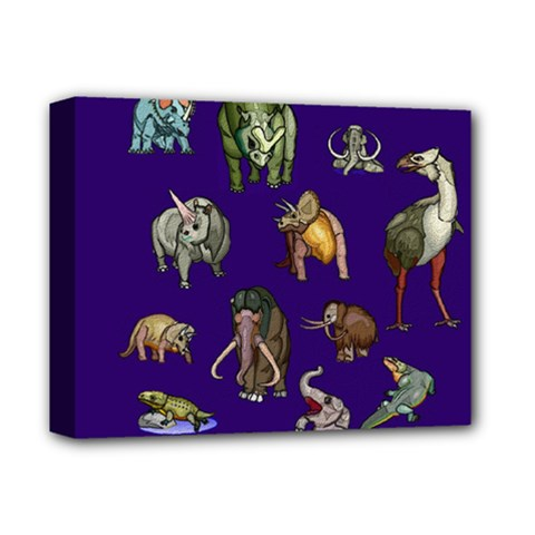 Dino Family 1 Deluxe Canvas 14  x 11  (Framed)