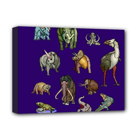 Dino Family 1 Deluxe Canvas 16  x 12  (Framed)