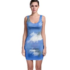 Abstract Clouds Bodycon Dress