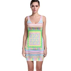 Spring Pastel Layers Bodycon Dress