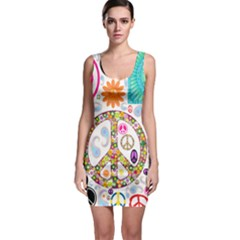 Peace Collage Bodycon Dress