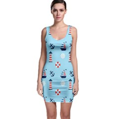 Nautical Harbor Bodycon Dress