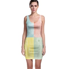 Pastel Woodgrain Bodycon Dress