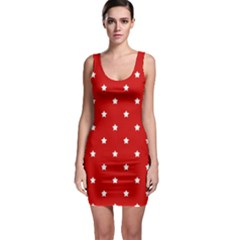 White Stars on Red Bodycon Dress