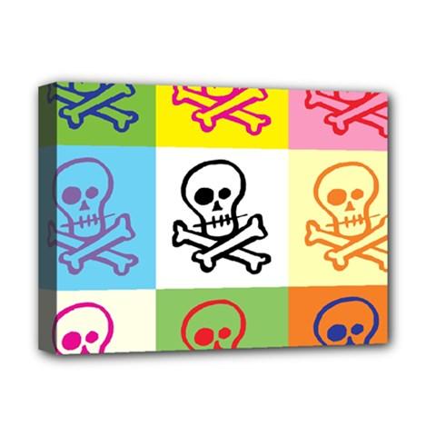 Skull Deluxe Canvas 16  x 12  (Framed)