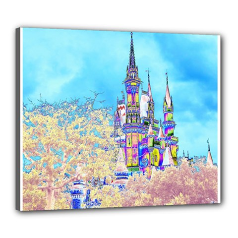 Castle For A Princess Canvas 24  X 20  (framed)