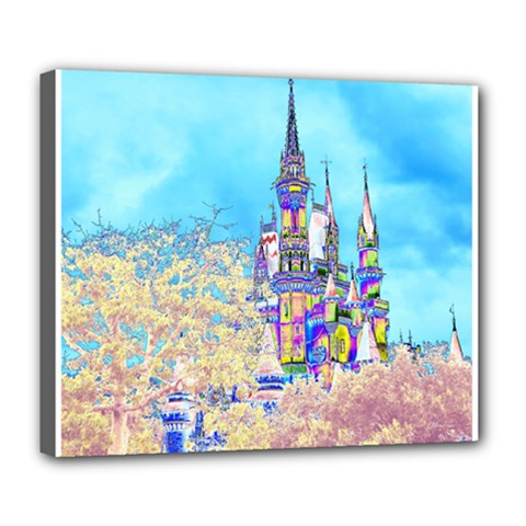 Castle for a Princess Deluxe Canvas 24  x 20  (Framed)