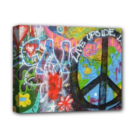 Prague Graffiti Deluxe Canvas 14  x 11  (Framed)