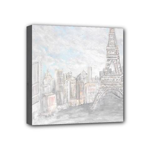 Eiffel Tower Paris Mini Canvas 4  x 4  (Framed)