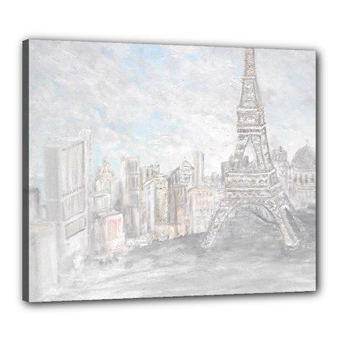 Eiffel Tower Paris Canvas 24  x 20  (Framed)