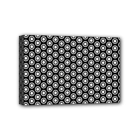 Groovy Circles Mini Canvas 6  x 4  (Framed)