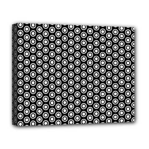 Groovy Circles Deluxe Canvas 20  x 16  (Framed)
