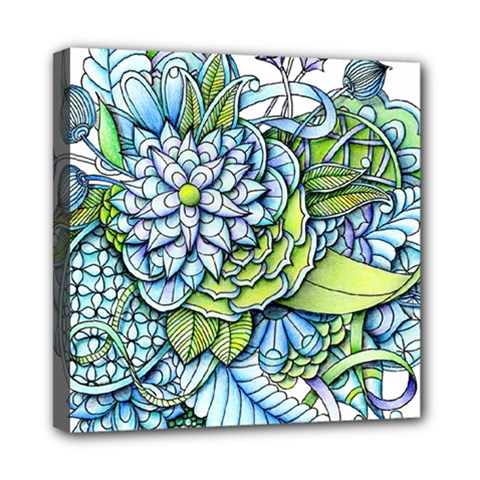Peaceful Flower Garden Mini Canvas 8  X 8  (framed)