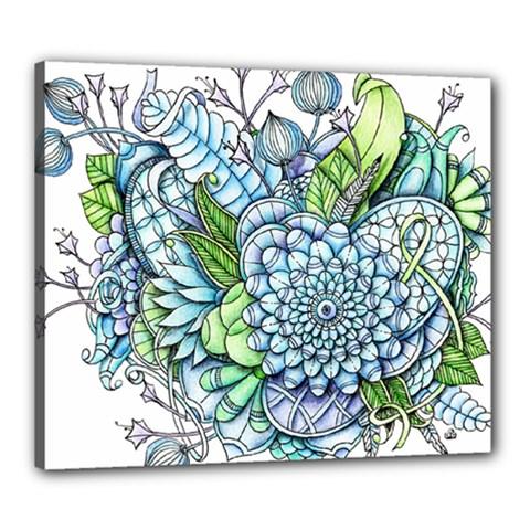 Peaceful Flower Garden 2 Canvas 24  X 20  (framed)