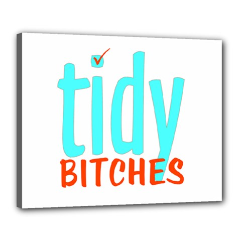 Tidy Bitcheslarge1 Fw Canvas 20  x 16  (Framed)