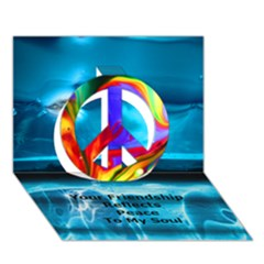 Repatch Your Friendship Reflects Peace To My Soul Peace Sign 3d Greeting Card (7x5)