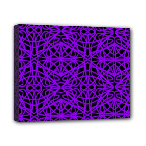 Black and Purple String Art Canvas 10  x 8  (Stretched)